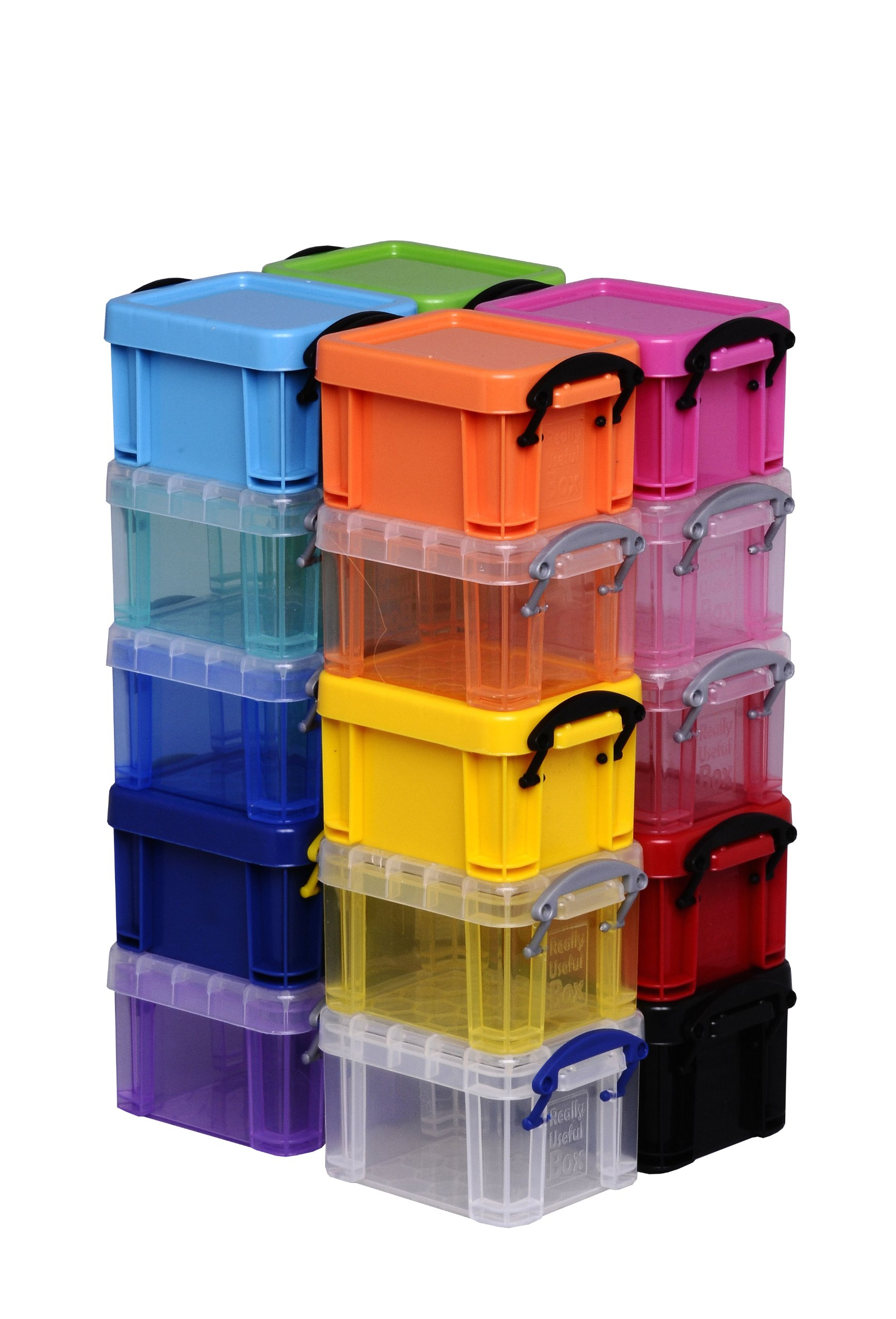 .14 Litre Really Useful Little Box Trans Assorted (pink)