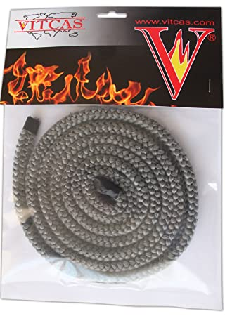 12mm X 25m Pd Black Rope And 50ml Adhesive Glue For Woodburner