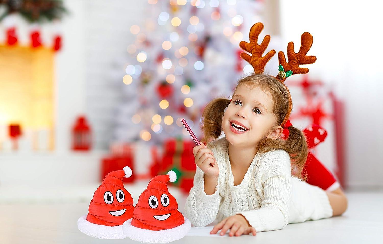 Play Kreative Christmas Plush Emoji Red Santa Poop Hat