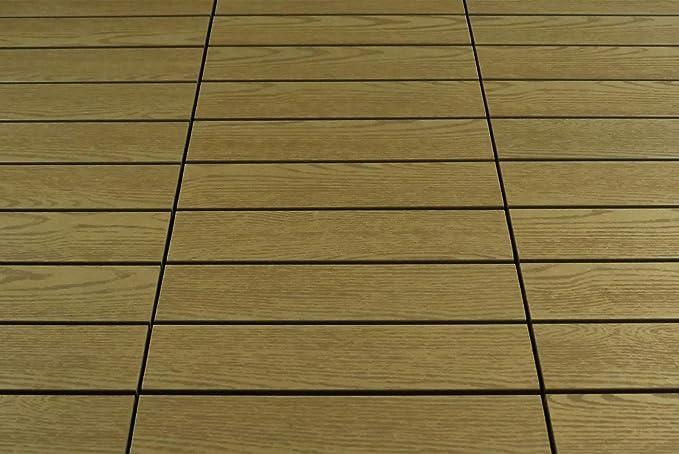 Gartenpirat wpc piastrelle m² teak effetto legno per balcone