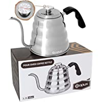 OPUX Gooseneck Pour Over Coffee Kettle with Thermometer | Premium Grade Stainless Steel Drip Kettle for Home Coffee…