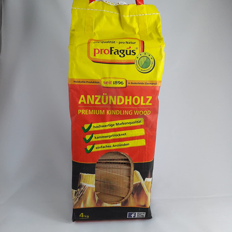 Anzü ndholz, beste Qualitä t, 100% Laubholz, deutsches Produkt, 2 X 4kg Paket Profagus