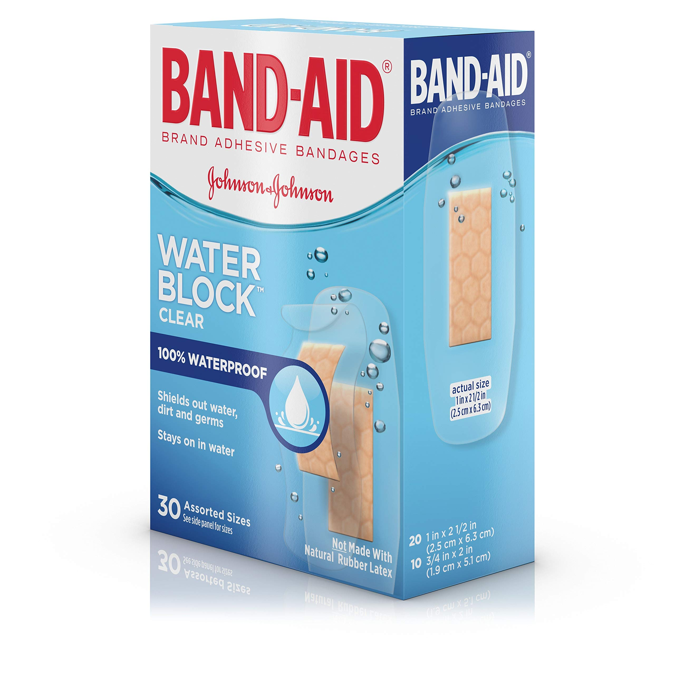 Band-Aid Brand Water Block Plus Waterproof Clear Adhesive Bandages for Minor Cuts and Scrapes, 30 ct (6 Pack) by Band-Aid (Image #14)
