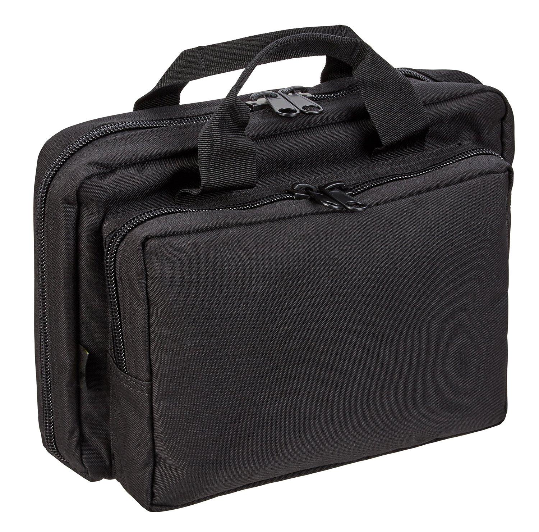 Acolchado Doble de Cargador de arma Bolsa de pistola con compartimentos, se puede cerrar, negro, talla única BlackSnake