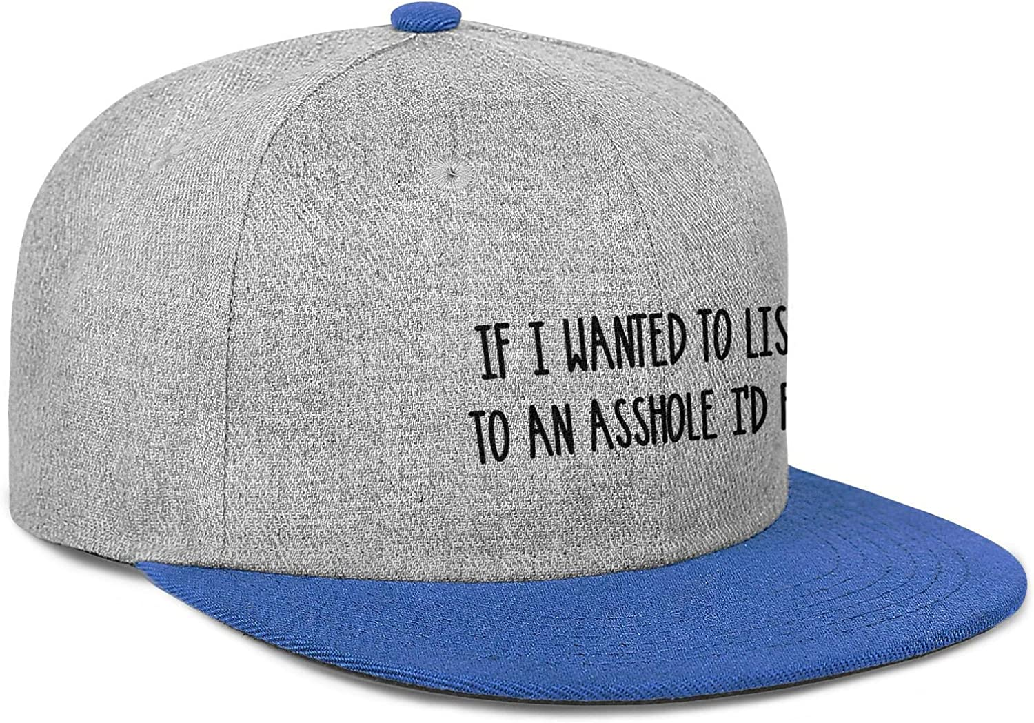 IF I Wanted to Listen to an Asshole Id Fart Mens Women Wool Baseball Cap Adjustable Snapback Beach Hat