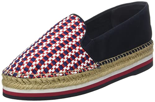 Tommy Hilfiger Corporate Interwoven Flatform, Alpargata para Mujer: Amazon.es: Zapatos y complementos