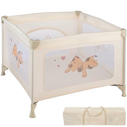 Lettini Per Bambini.Tectake Box Per Gioco E Nanna Lettino Da Viaggio Reticolato Campeggio Bambini Bebe Disponibile In Diversi Colori Beige No 402208