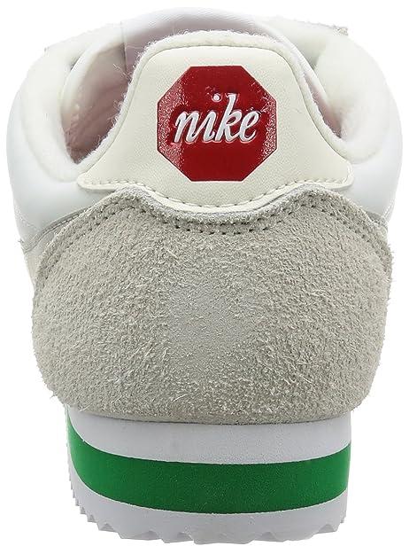 premium selection ff8a4 6cc24 NIKE Men s Cortez Nylon Prem Gymnastics Shoes, White (Ivory Pale Grey-Pine  Green 100), 10.5UK  Amazon.co.uk  Shoes   Bags