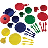 "KidKraft 27Piece Cookware Playset - Primary, 6.5"" x 6.5"" x 6.5"", Multicolor"