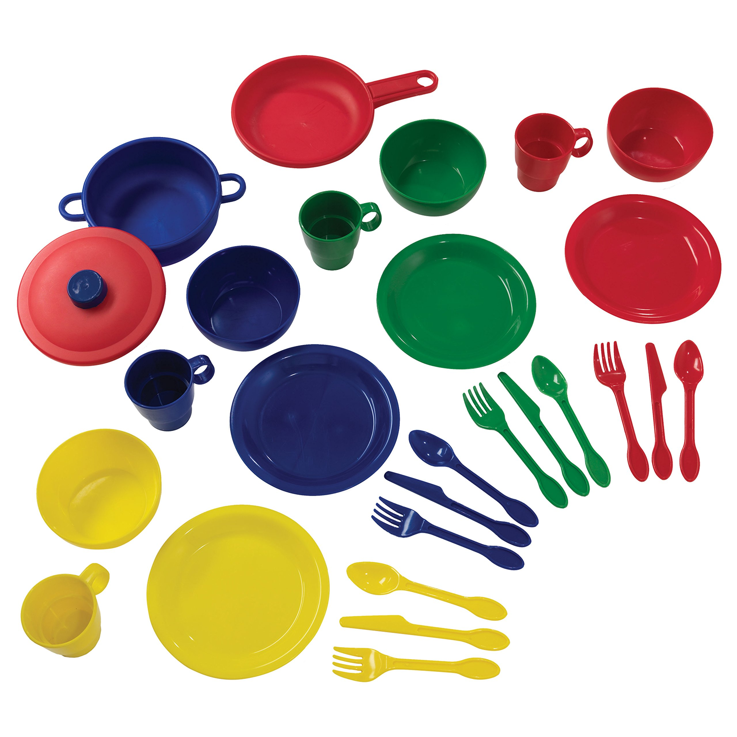 KidKraft 27Piece Cookware Playset - Primary, 6.5'' x 6.5'' x 6.5'', Multicolor by KidKraft