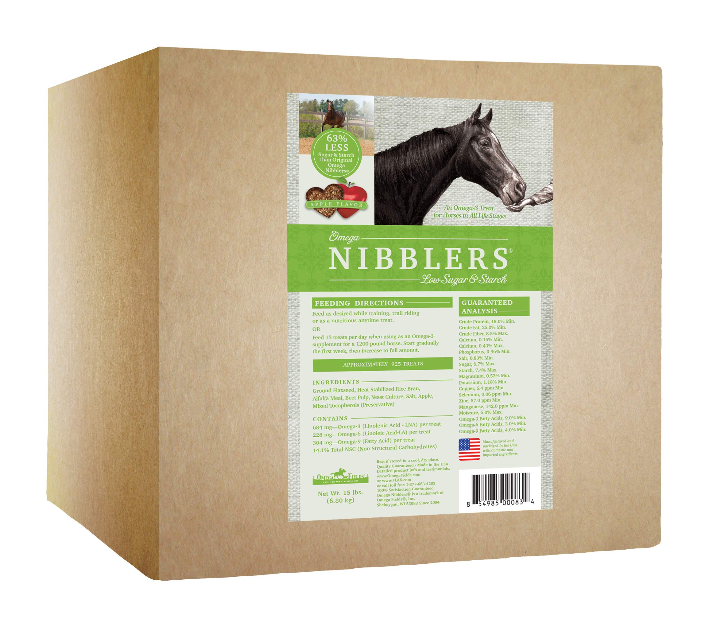 Omega Nibblers Low Sugar & Starch, 15 lb by Omega