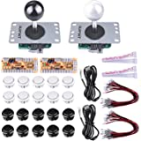 Arcade Game Kits for Rapberry pi, Quimat 2 player Zero Delay Arcade Game DIY Kits with 2 USB Encoder board 8 Way Joystick Push Button for Mame Jamma & Other Fighting Games