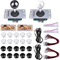 Quimat Joystick Arcade de 2 Jugadores para Raspberry Pi y Window, Joystick con Placa + Cable USB + Cable de Joystick para Mame Jamma Videojuego