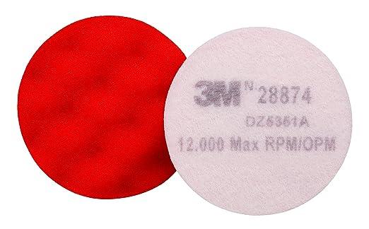 "1 Pad 3M 02648 Finesse-It Orange Foam Buffing Pad Hook /& Loop 3.25/"""