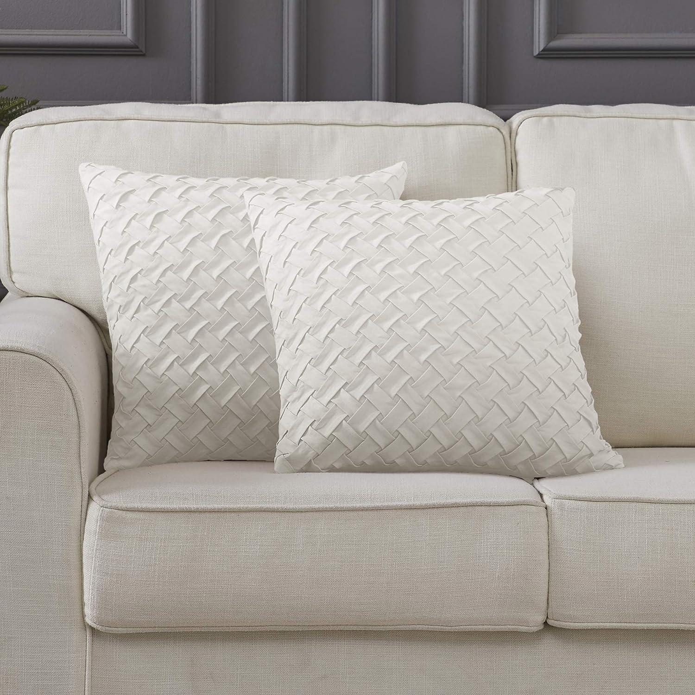 Amazon Com Longhui Bedding 18 X 18 White Throw Pillow Covers