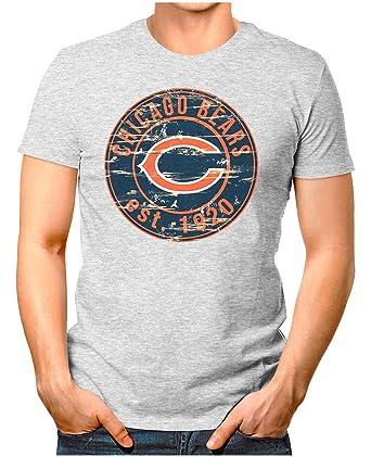 OM3® - Chicago-Badge - T-Shirt   Herren   American Football Shirt   S -  4XL  Amazon.de  Bekleidung 86f09626f1