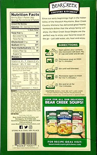 Amazon.com : Cheddar Broccoli, Classic Chicken Noodle, Creamy Potato   Bear  Creek Soups Single Serve Packets   Variety Pack Of 3 : Grocery U0026 Gourmet  Food