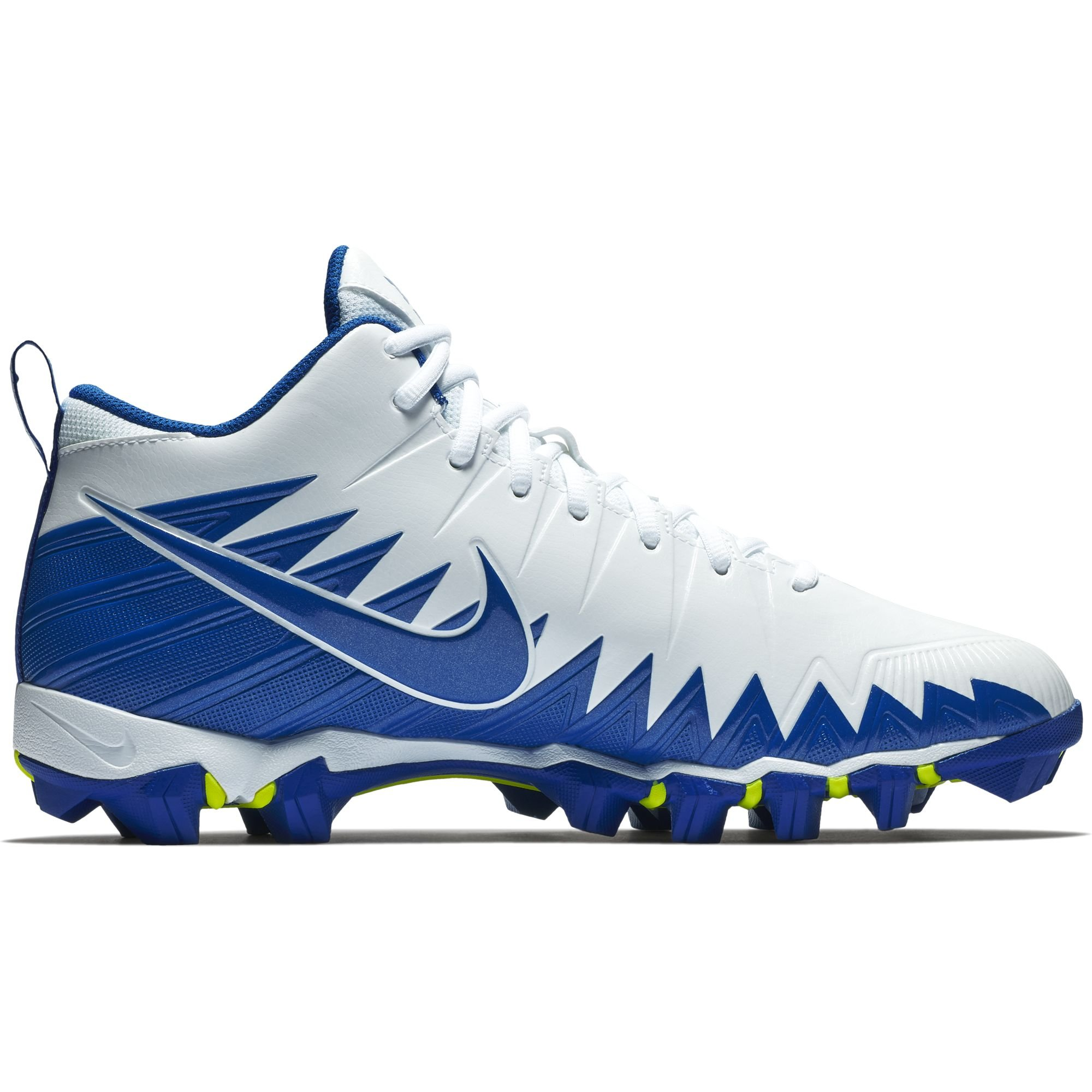 low priced 6589e f4d59 Galleon - Nike Men s Alpha Menace Shark Football Cleat White Game Royal Size  12 M US