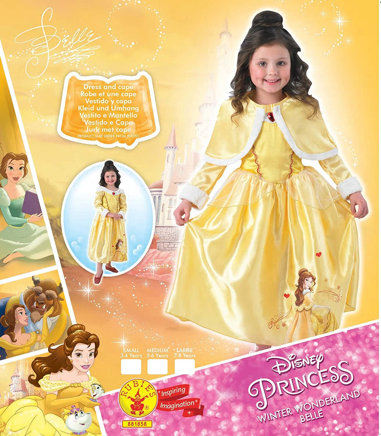 Amazon.com: Disney Princess Belle Winter Wonderland Costume: Home Improvement