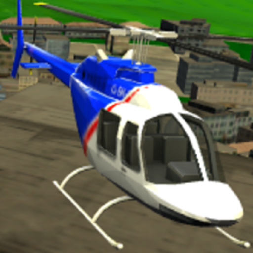 City Helicopter Game 3D