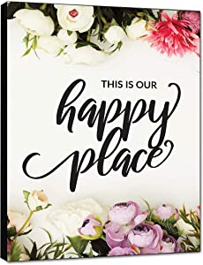 "LACOFFIO This is Our Happy Place Wall Art Décor 9""x12"" Plaque Housewarming Gift Idea"