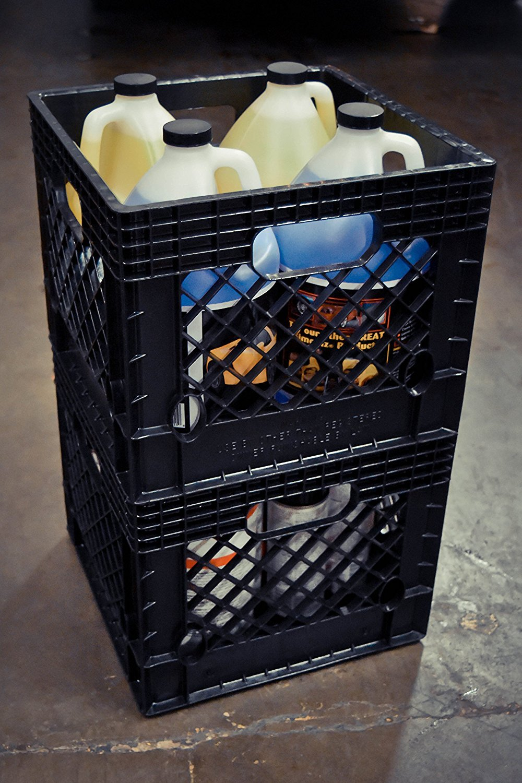 Jezero Mutli-Purpose Black Milk Crate