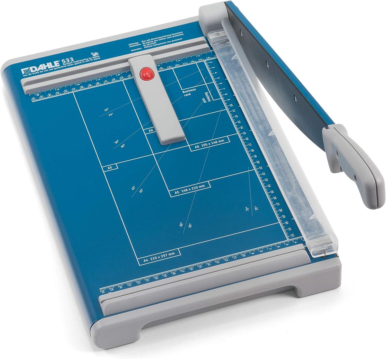 Papierschneidemaschine mit einer Schnittl/änge von 340 mm, bis zu DIN A4 Dahle 533 Hebelschneider