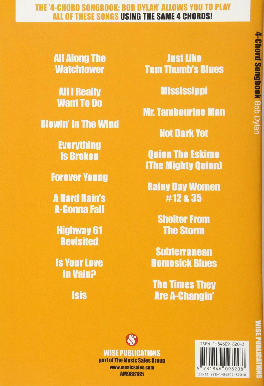 Bob Dylan 4 Chord Songbook Amazon Bob Artist Dylan Books