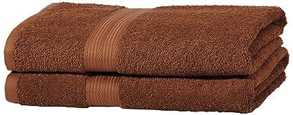 AmazonBasics - Juego de toallas (colores resistentes, 2 toallas de baño), color