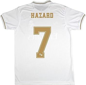 Real Madrid Camiseta Primera Equipación Talla Adulto Hazard Producto Oficial Licenciado Temporada 2019-2020 Color Blanco (Blanco, Talla S): Amazon.es: Deportes y aire libre