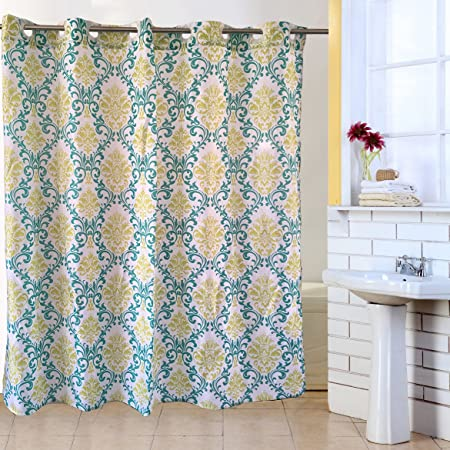 Washroom Curtain Funky Water Proof Fabric Hookless Shower Curtains ...