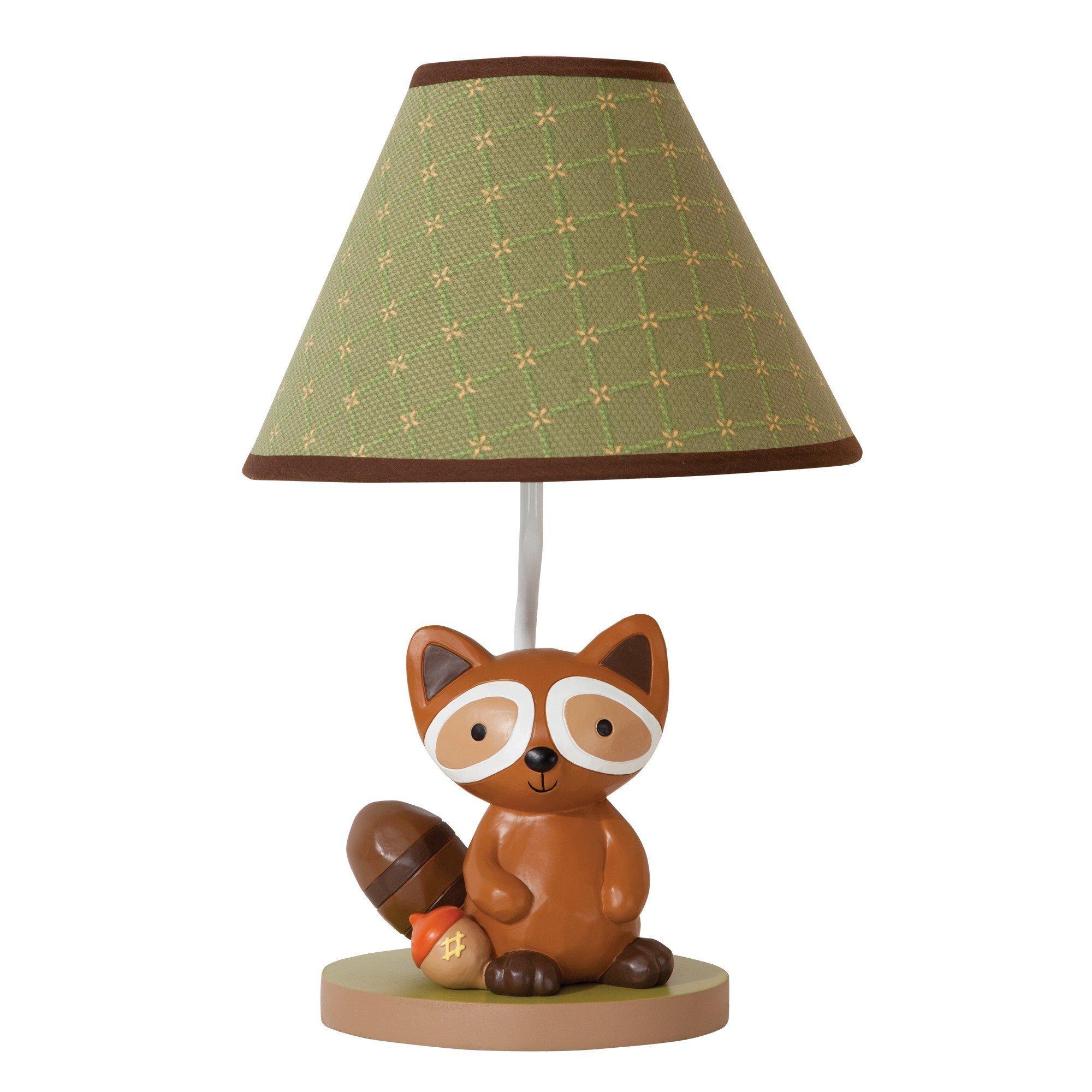 Lambs Ivy Raccoon Lamp with Shade and Bulb - Echo
