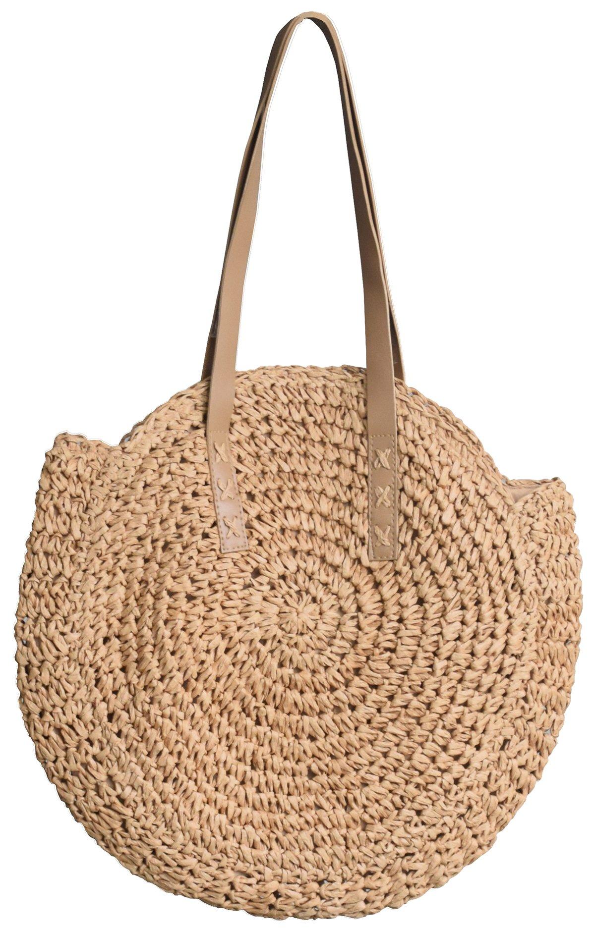 Molodo Summer Straw Handbags Top Handle Crossbody Shoulder Satchels Tote Beach Purse Bags