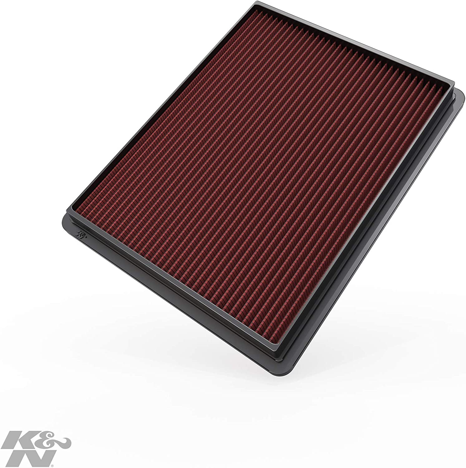 K&N Engine Air Filter: High Performance, Premium, Washable, Replacement Filter: 1999-2019 Chevy/GMC Truck and SUV V6/V8 (Silverado, Suburban, Tahoe, Sierra, Yukon, Avalanche), 33-2129