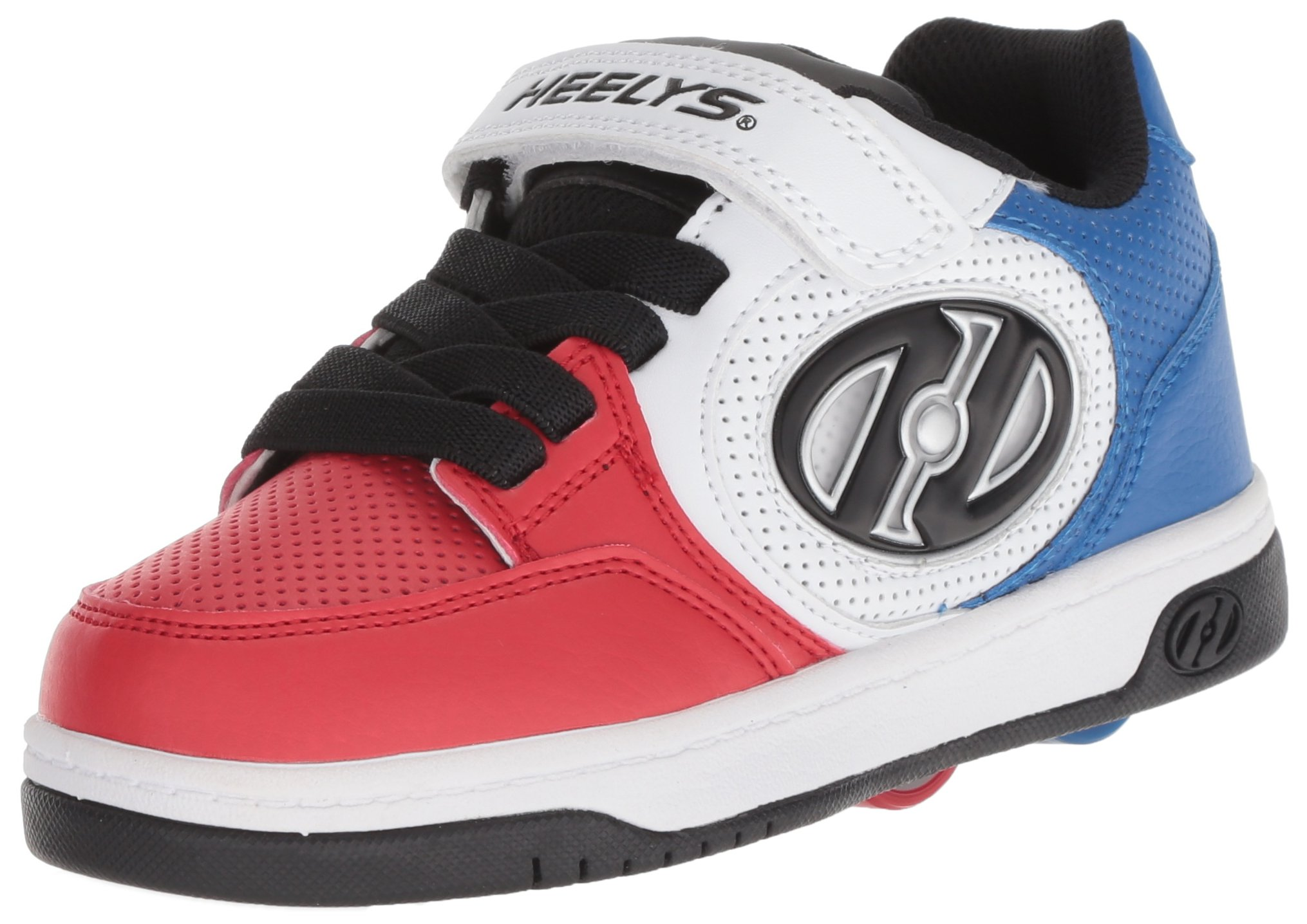 Heelys Boys' Plus X2 Tennis Shoe, Blue/White/red, 4 Medium US Little Kid