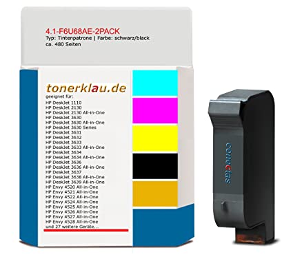 compatible Cartucho de tinta de 4.1 F6u68ae 2pack para: HP ...