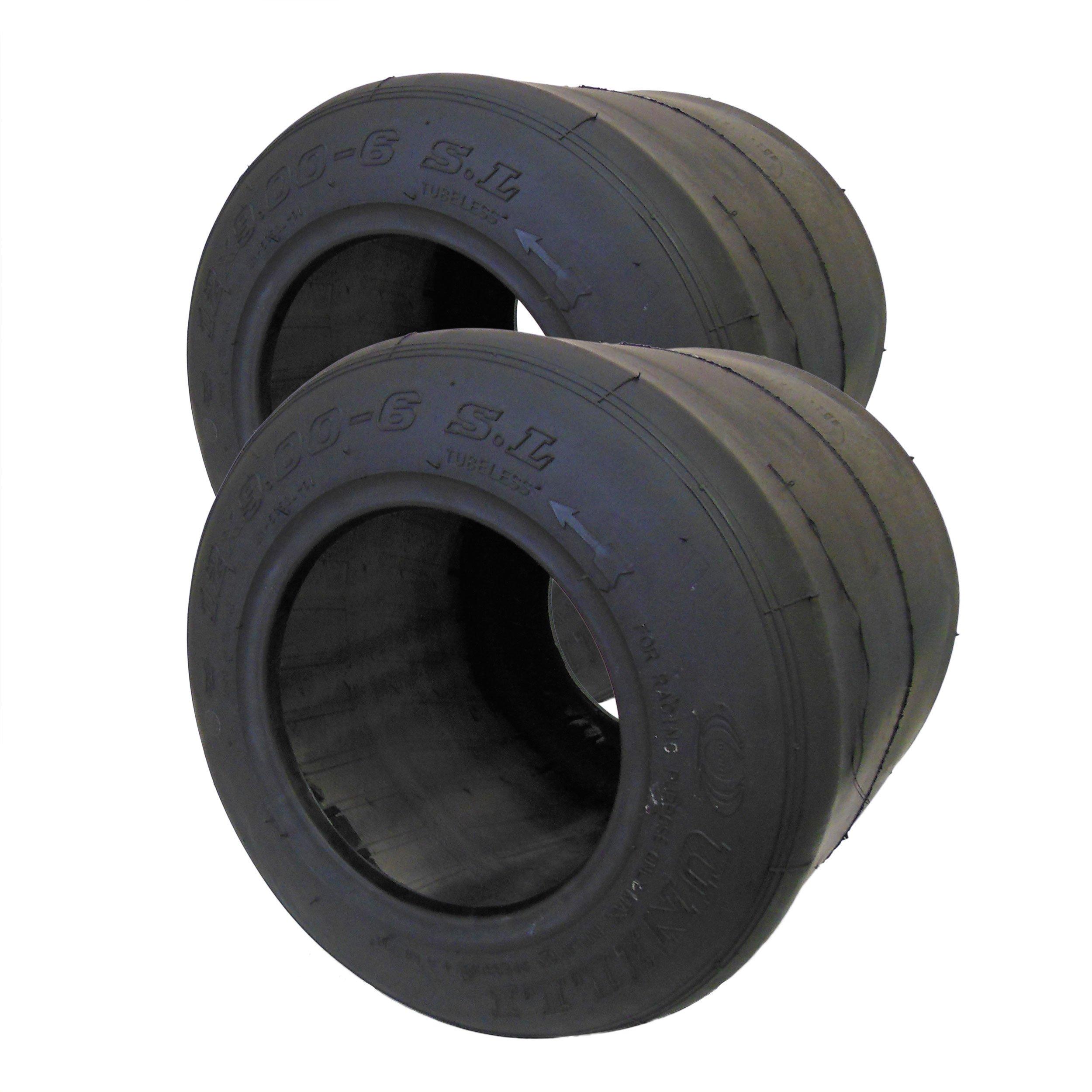 Set of 2, 6'' Unilli Racing SL Slick Tire (12 x 9.00-6)