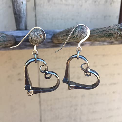 626d7c25d Amazon.com: Equestrian Heart Earrings Horseshoe Nails Made in the USA:  Handmade