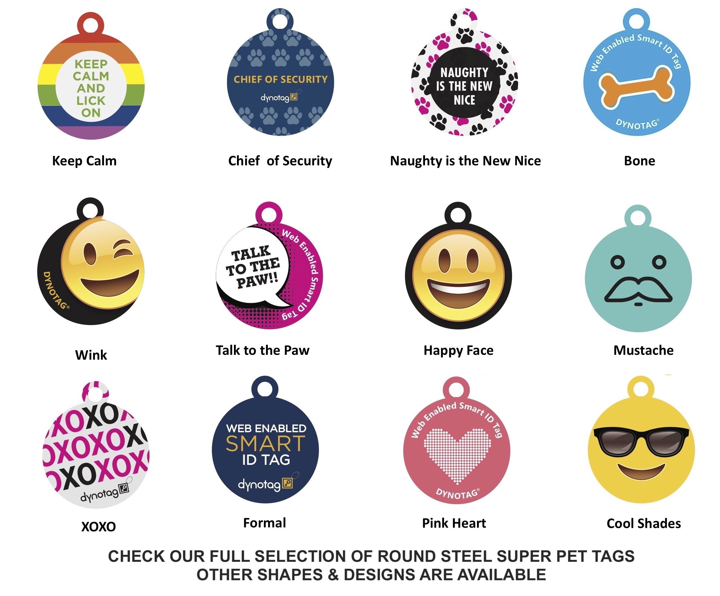 Dynotag Web Enabled Super Pet ID Smart Tag. Deluxe Coated Steel, with DynoIQ & Lifetime Recovery Service. Fun Series (Red: Oh Crap, I'm Lost) by Dynotag