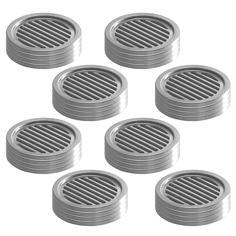 InterDesign Forma Coasters (Set of 32), Brushed Stainless Steel/Black by InterDesign