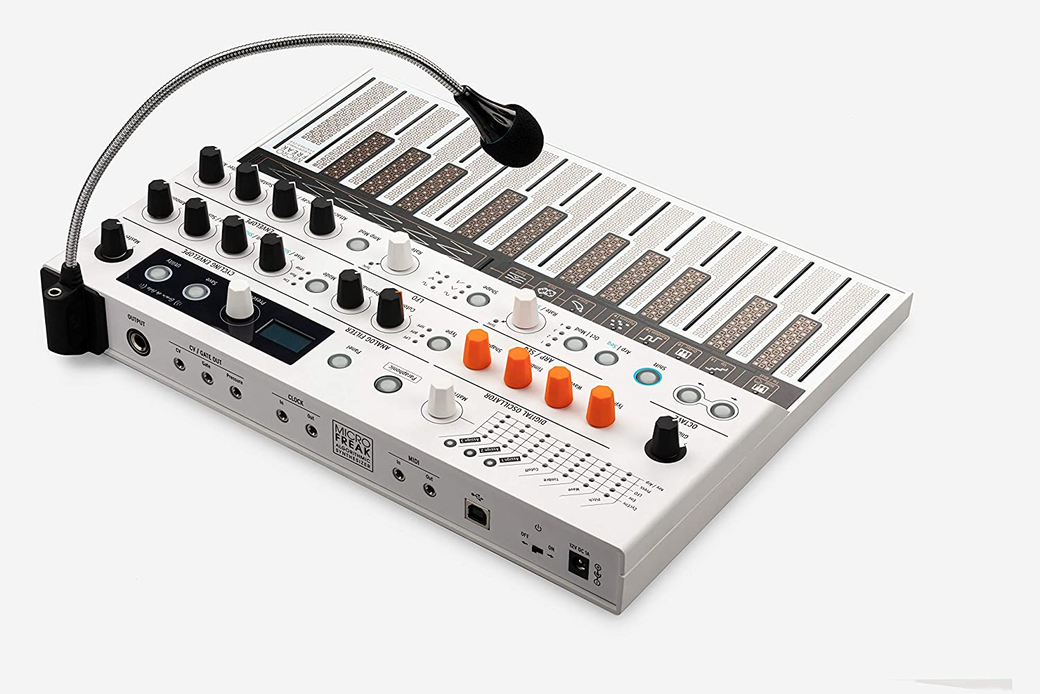 Arturia MicroFreak Vocoder Edition Hybrid Synthesizer 25-Key Paraphonic Hybrid Hardware Synth and Vocoder with Poly-aftertouch Flat Keyboard and Gravity Phone Holder Bundle