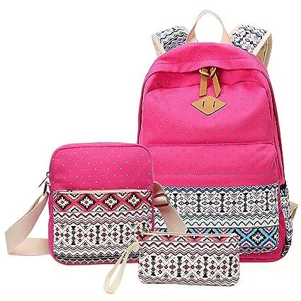 Amazon.com: Yunlep - Juego de mochila escolar para niña ...