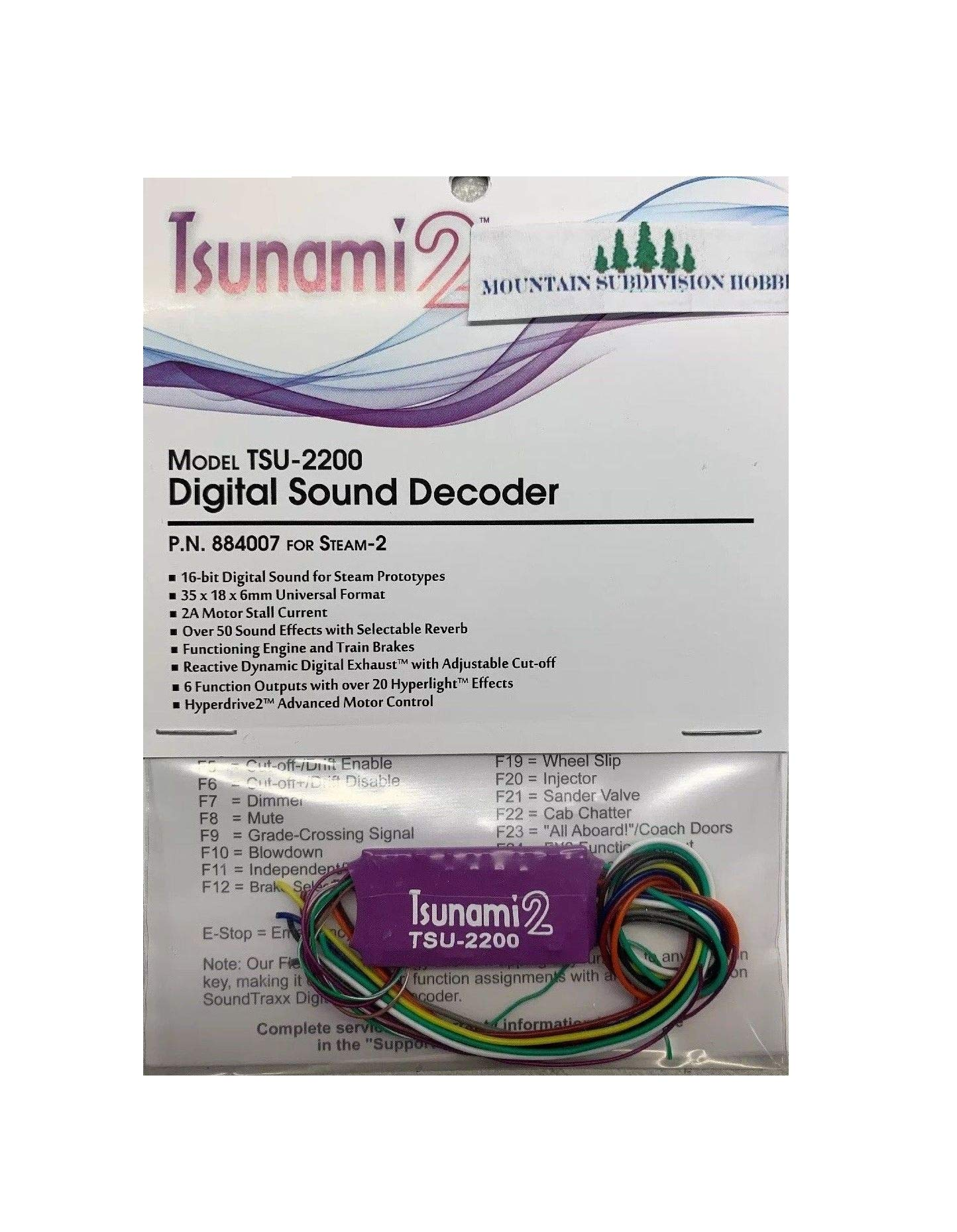 Soundtracks 884OO7 Tsunami 2 TSU2200 STEAM-2 Loco Sound Decoder Train Railroads Kit Quick Arrive