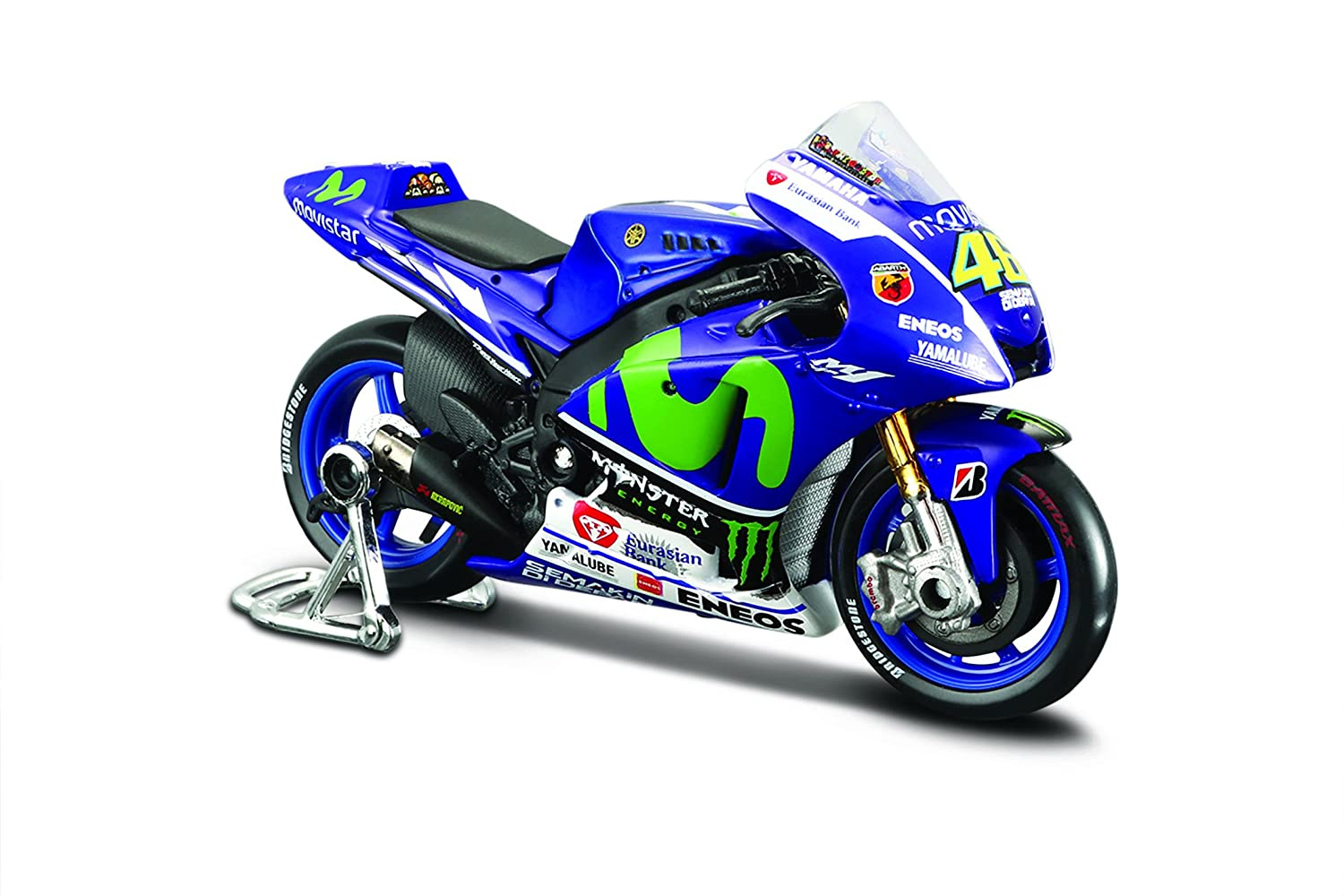 valentino rossi s 2015 fiat yamaha moto gp bike model 1x18 scale new ebay. Black Bedroom Furniture Sets. Home Design Ideas