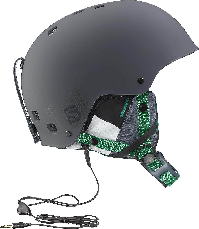 Salomon Brigade Audio Casco de Esquí y Snowboard, Verde / Gris, L ...