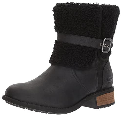 UGG Australia Womens Blayre II Black Leather Boots 36 EU