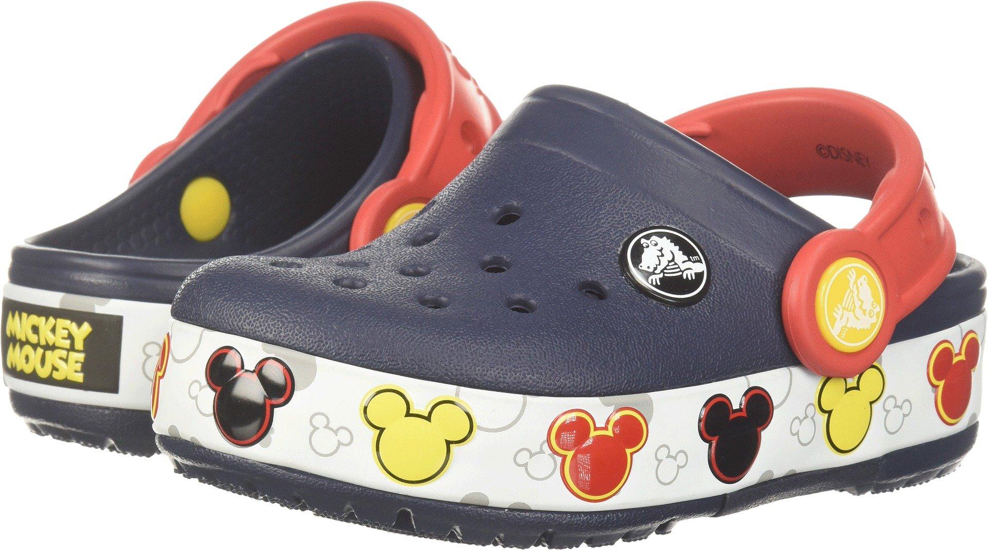 Crocs Kids' Crocband Fun Lab Mickey Light-up Clog, Navy, 10 M US Toddler