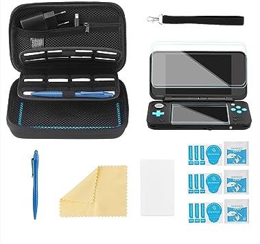 Bestico Funda Accesorios Kits para New Nintendo 2DS XL,Funda de Protección para Nintendo DS (New 3DS XL/3DS/3DS XL/New 3DS) con 16 Cartuchos de Juegos +Stylus Pen +Correa+4 Protector de Pantalla: Amazon.es: Electrónica