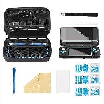 Bestico Funda Accesorios Kits para New Nintendo 2DS XL,Funda de Protección para Nintendo DS (New 3DS XL/3DS/3DS XL/New 3DS) con 16 Cartuchos de Juegos ...