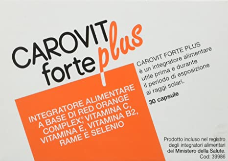 Carovit Forte Plus – Complemento alimenticio a base de Red Orange Complex, 30 unidades
